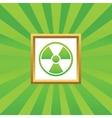 Hazard picture icon vector image