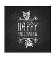 Happy halloween on chalkboard background vector image