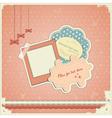baby scrapbook vector image