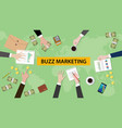 buzz marketing discussion in a vector image