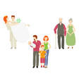 flat couples characters set isolated vector image