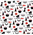 halloween pattern on white vector image