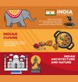 india tourism travel famous landmark symbols vector image