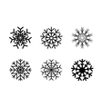 Isolated decorative snowflakes winter vector image
