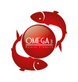 omega 3 product healthy vector image