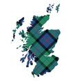 scotland map texture of tartan plaid flat design vector image