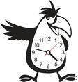 Wall clock parrot sticker vector image