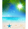 seascape and palm leaves2 vector image