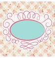 Valentine card with placeholder EPS 8 vector image vector image