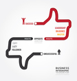 Infographic bussiness route to success vector image vector image