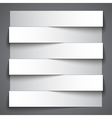 Infographics blank paper stripe banners with vector image