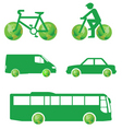 green transport vector image vector image