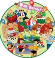 Great holiday cartoon vector image vector image