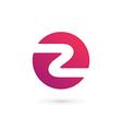 Letter Z number 2 logo icon design template vector image