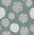 Gray abstract trees seamless background pattern vector image