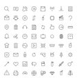 Thin Line Icons For User Interface vector image