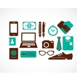 Business travel icons vector image