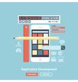 application development vector image