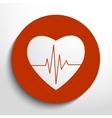 cardiogram or heart rhythm medical icon vector image