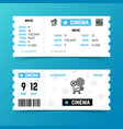 cinema entrance ticket template in modern vector image