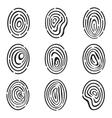 Fingerprint Icon Collection vector image