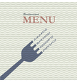 Stylish restaurant menu card vector image