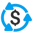Money Turnover Flat Icon vector image
