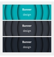 Set of realistic abstract banners with shadows vector image