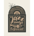 restaurant with jazz vector image vector image