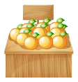 A fruitstand with empty signboard vector image