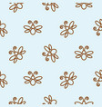 butterfly outline blue seamless pattern vector image