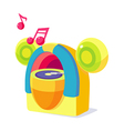 Icon music box vector image