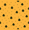 shamrock pattern seamless clover dashed vector image