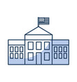 white house with flag vector image