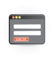 log in icon vector image vector image