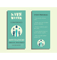 Save water conference flyer invitation template vector image