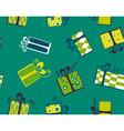 seamless gift box pattern vector image vector image