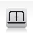 doors icon vector image vector image