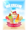 Ice Cream Poster vector image