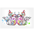 butterfly with circles vector image vector image