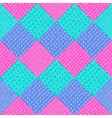 patchwork pattern Fashion fabric print vector image