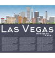 Las Vegas Skyline with Gray Buildings Blue Sky vector image