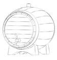 Beer barrel silhouette vector image
