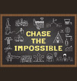 chase the impossible vector image