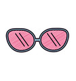 cute sunglasses fashion style design vector image