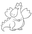 Dragon girl outlined vector image
