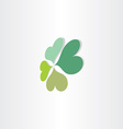 four leafs clover luck symbol vector image