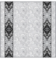 grey lace border stripe in ornate floral vector image