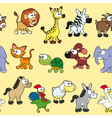Group of animals with background vector image