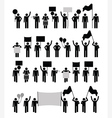 Protest - pictogram collection vector image